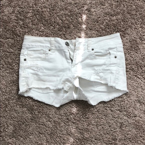American Eagle Outfitters Pants - White Jean shorts